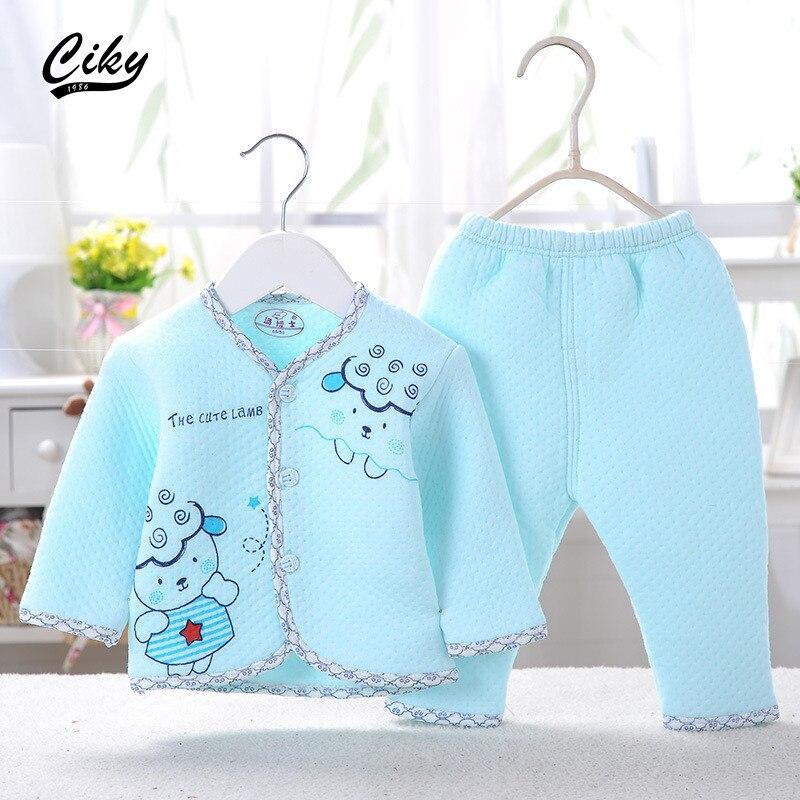 2pcs/set Newborn Baby 0-6M Clothing Set Brand Boy/Girl Clothes 100% Cotton Cartoon Underwear spring autumn