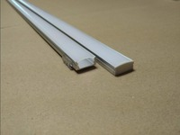 Free Shipping Hot Selling 1000mmX17mmX7mm 1m/pcs aluminum profile with cover, end caps for 5050 Flexible led strip