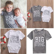 Family Matching T-Shirt Tops Romper Baby-Boy Boys Cute Letter And Casual