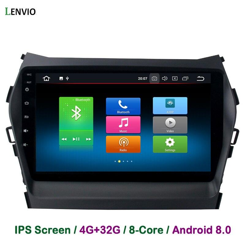 Lenvio 4G RAM 32G ROM Octa base Android 8.0 VOITURE DVD GPS Lecteur de Navigation Pour Hyundai Santa Fe IX45 2013 2014 2015 2016 DAB IPS