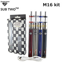 SUB TWO Electronic cigarette Evod twist III M16 kits 3 VV E cigs battery Airflow control atomizer vape pen tank