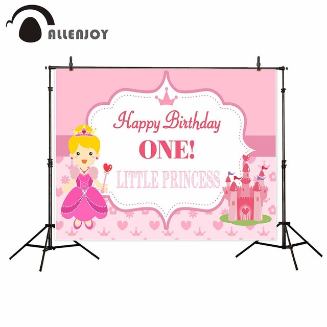 Allenjoy photographic background pink pretty castle princess allenjoy photographic background pink pretty castle princess birthday party invitation backdrop photocall professional custom filmwisefo