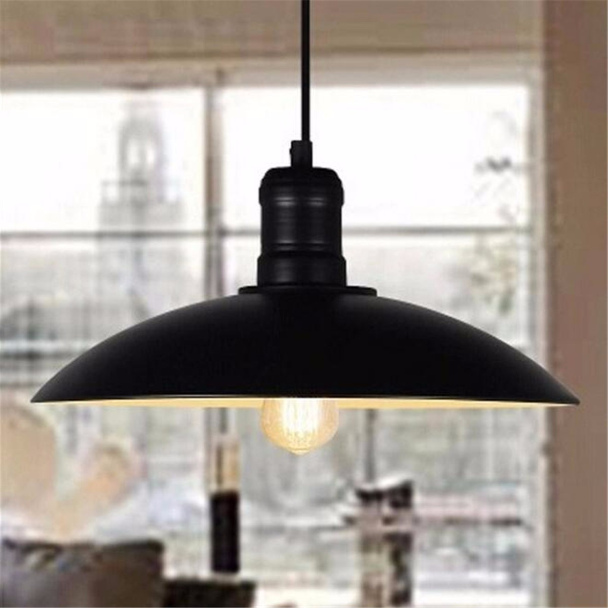 e27 loft estilo industrial retro restaurante bar cafe criativo panela de ferro pingente lampada dia32cm 13