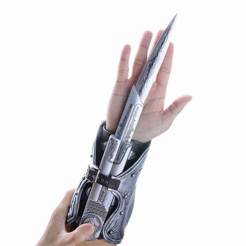 숨겨진 블레이드 슬리브 소드 액션 피규어 암살자 숨겨진 블레이드 에드워드 무기 슬리브 칼 방출 가능 크리스마스 할로윈