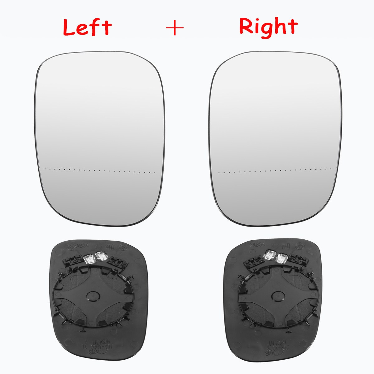 VO-S60 2000 to 2003 Heated Silver Aspheric Wing//Door Mirror Glass Including Base Plate RH Driver Side