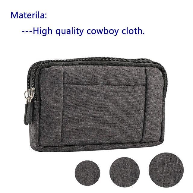 Phone Pouch For xiaomi redmi note 5 pro mi max 3 mi8 a2 PocoPhone F1 redmi 6X 6 5 4x Belt Clip Cowboy Cloth Casual Waist Bags 2