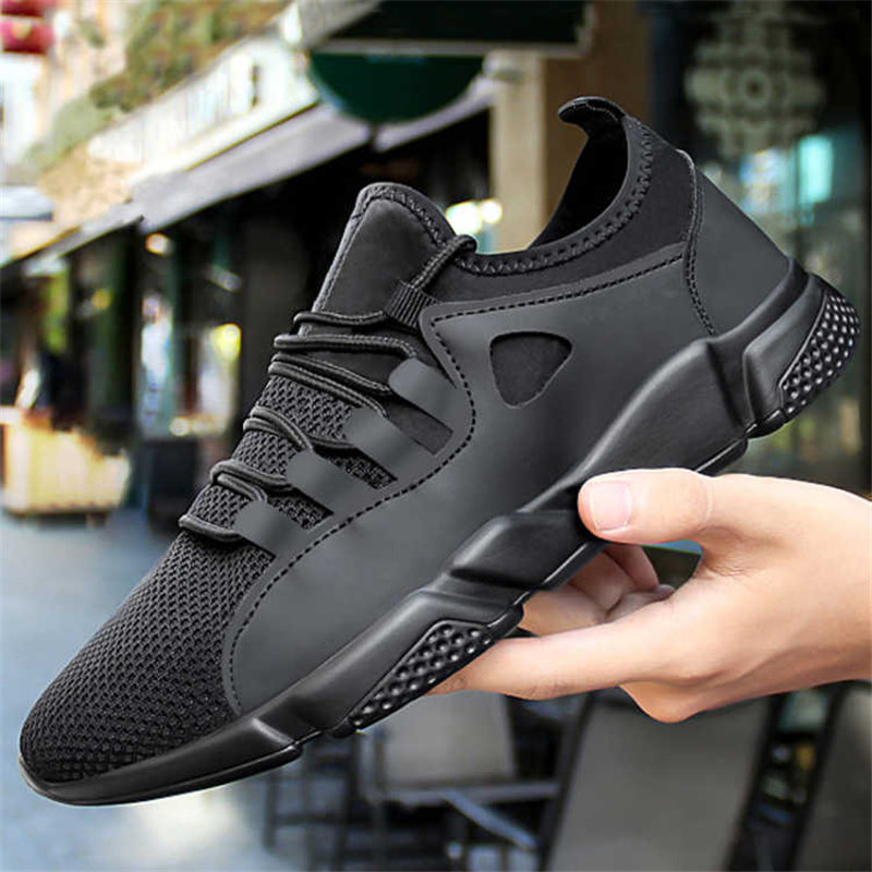 Breathable Black Men Sneakers Male Shoes Adult High Quality Comfortable Non-slip Soft Mesh Men Shoes 2019 Summer New