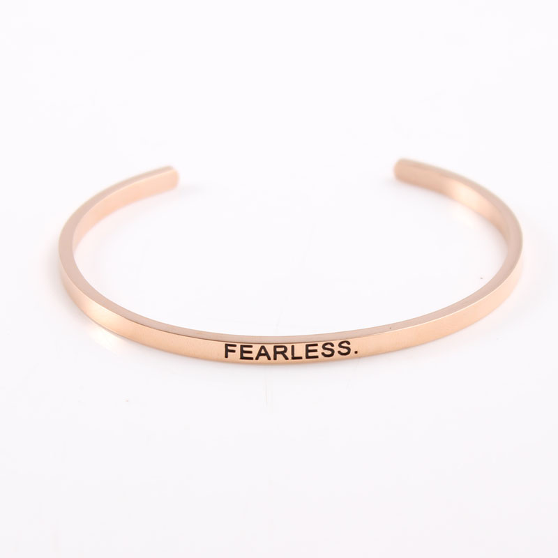 quot nothing is impossible quot Stainless Steel Inspirational Bracelet Quote Cuff Bracelets Mantra Bangle for Women Dropshipping in Bangles from Jewelry amp Accessories