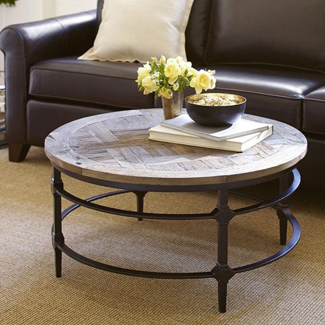 New american jane gang mesa de centro de hierro mesa de for Mesas de centro de madera para sala
