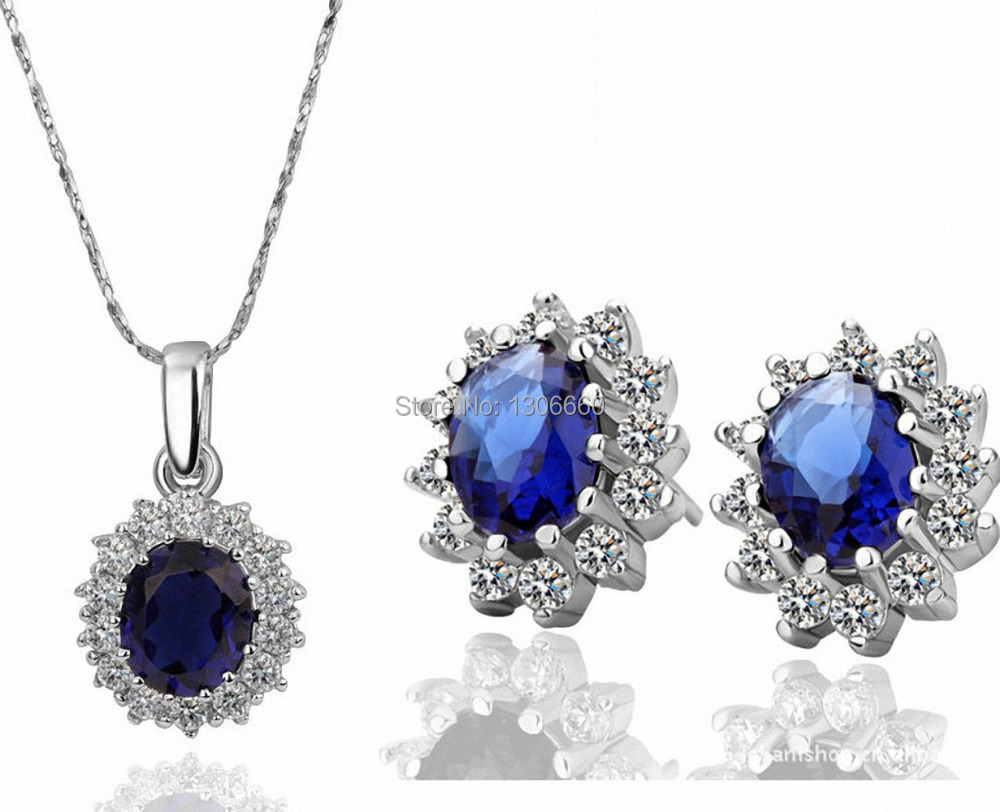 Kate Middleton  Pendant Necklace And Earrings Set Wedding Jewelry Setsin Jewelry Sets From  Jewelry