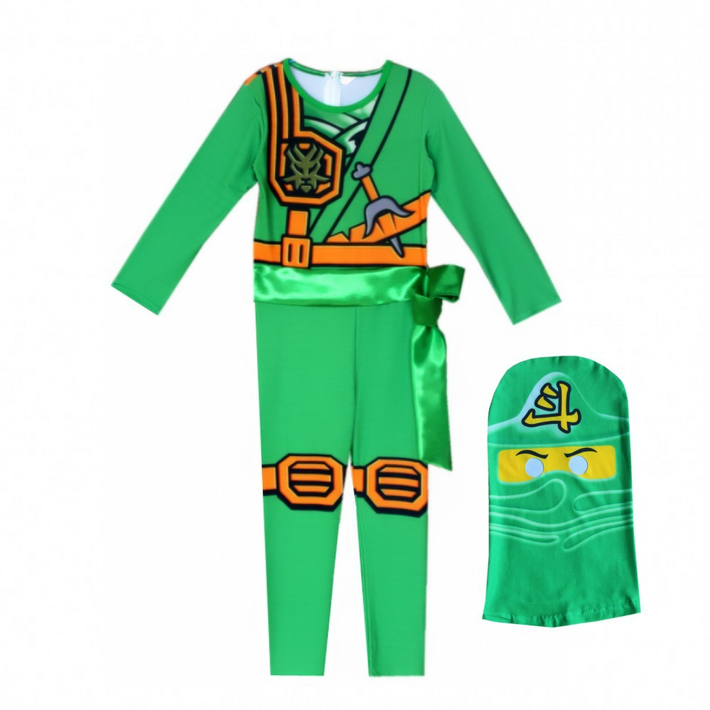 LEGO NINJAGO Advanced Latest Role Playing Costume Boys and Girls Jumpsuit Set Halloween Christmas Party Ninja Superhero 5