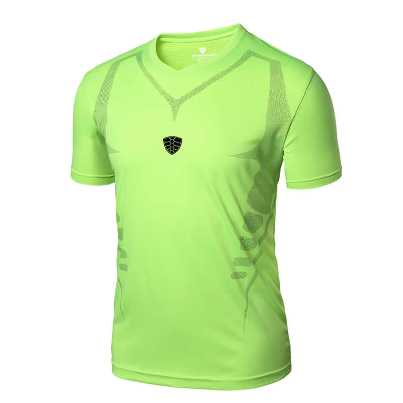 FANNAI koszulka do biegania Sport T Shirt męska koszulka z krótkim rękawem mężczyźni siłownia szkolenia treningu koszulki Fitness Top Sport rashguard oddychające