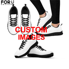 FORUDESIGNS Custom Images or Logo Sneakers Shoes Woman Flats Women Casual Comfortable Breathable Mesh Shoes for Ladies Zapatos forudesigns light comfortable mesh shoes for women flats breathable mesh shoes woman pretty leaf printed women s sneakers mujer
