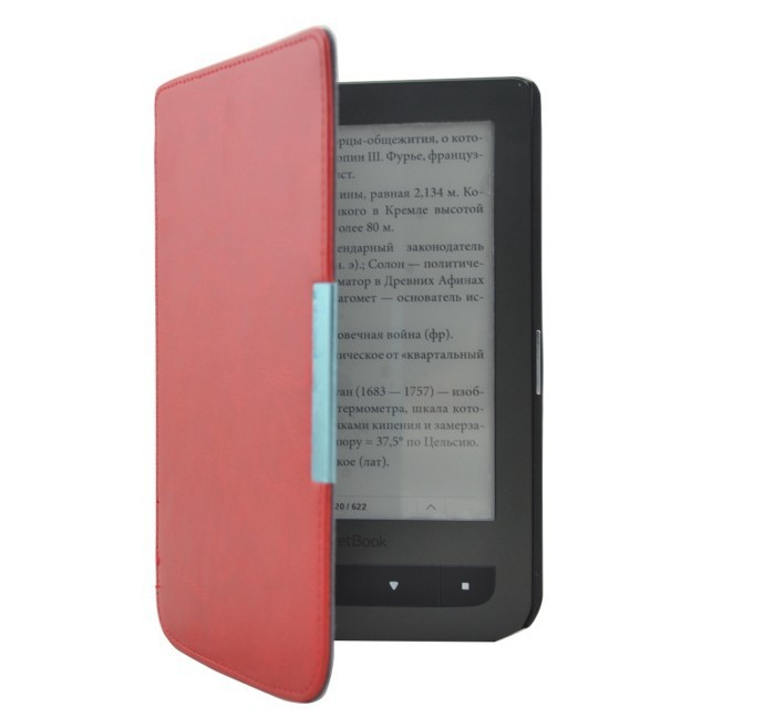 New Crazy Horse Magnetic Flip Leather Cover Case For Pocketbook Touch 614624626 6 6 inch Free Shipping (5)