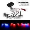 6x3 LED Универсальный Автомобиль Предупреждение Строб Вспышки Предупреждение EMS Police свет Пожарные Аварийного Свет Лампы 3 Режима Красный и Синий освещение