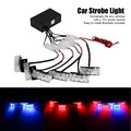6x3 LED Universal Car Warning Strobe Flash Warning EMS Police Light Firemen Emergency Light Lamp 3 Modes Red and Blue Lighting