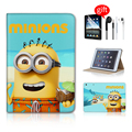 Cute Cartoon Minions Tablet Accessories Smart Cover Case For Ipad Mini 3 Case Minion Leather For Case Ipad Mini Accessories