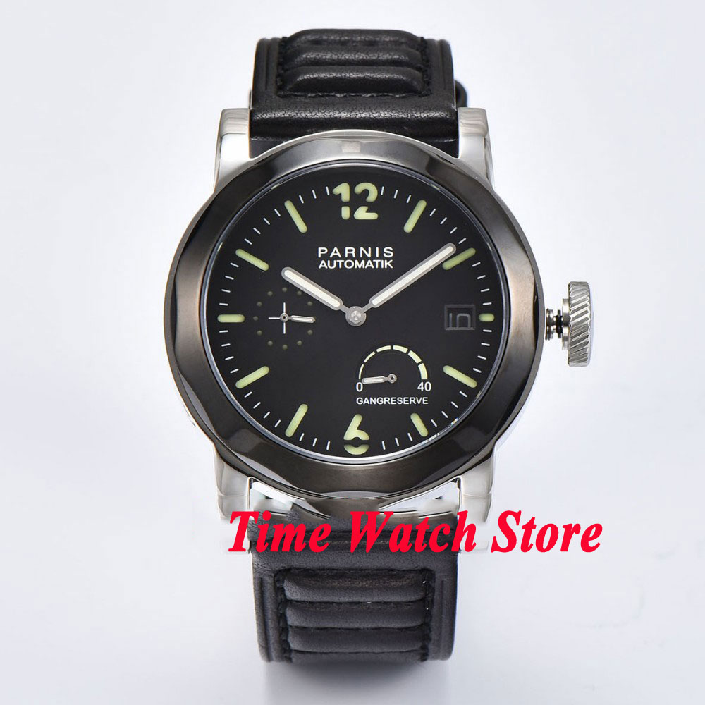 44mm Parnis power reserve ST 2530 mens watch 708 sapphire crystal luminous44mm Parnis power reserve ST 2530 mens watch 708 sapphire crystal luminous