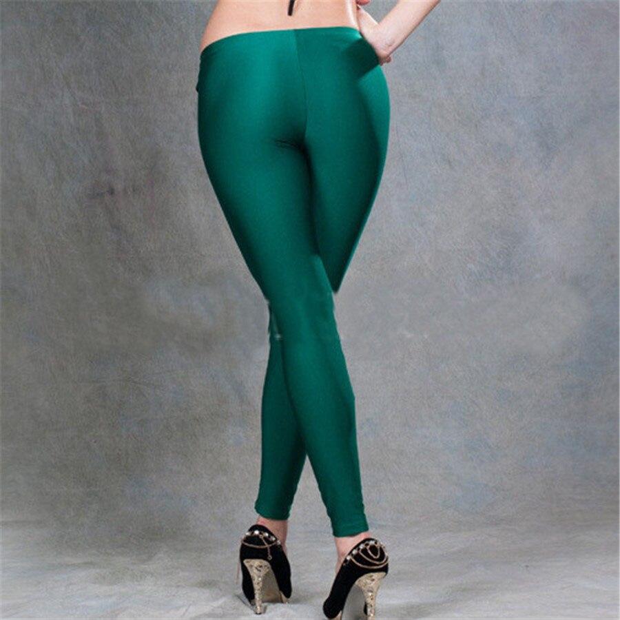 54e488f4e5 Aliexpress.com : Buy yuqung Black Womens Leggings Lycra spandex shiny  legging workout Leggins Capris pants Fitness Nine Ankle length Pantalones  from ...
