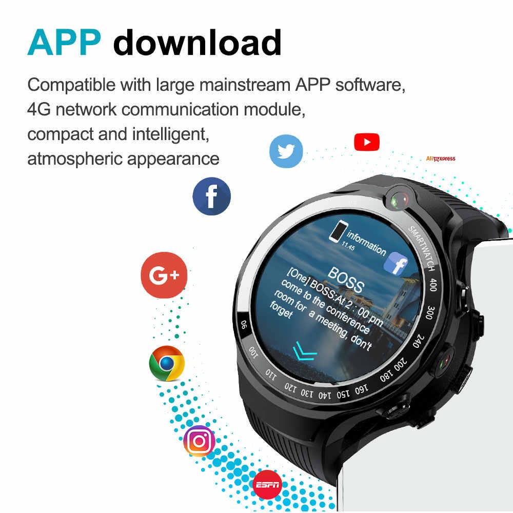Moka 4G Smart Horloge Mannen 400*400 Amoled Screen Android 7.1 MTK6739 5MP Dual Camera Met Gps Wifi smartwatch Voor Ios