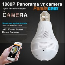 1080p WIFI Bulb Panoramic camera 360 degree cctv Smart Home 3D fisheye VR CAM 2.0MP Bulb Light Wireless IP Camera
