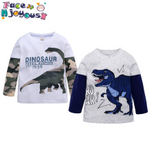 Children Boys Girls Clothing Toddler Kids Long Sleeves T-shirts For Girls Boys Tops Tees Baby Dinosaur T Shirt Casual Clothes