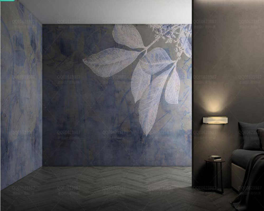 Modern Stylish Lines Leaves Nordic Texture Wallpaperliving Room Bedroom Tv Sofa Wall Kitchen Bar Office Room Hotel Mural