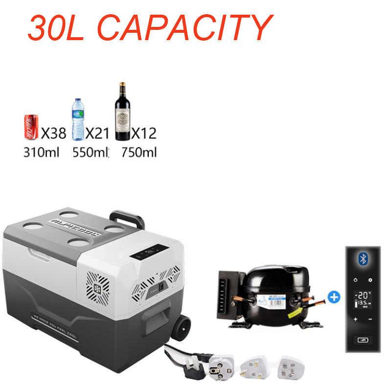 30L 12 V/24 V/220 V ポータブルアプリ Conrtol ミニ車冷蔵庫冷凍庫キャンプボートキャラバンバーミニコンプレッサー冷蔵庫クールボックス