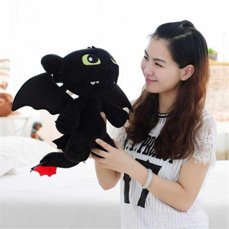 Hot New Train Your Dragon Desdentado Boneca Trajes Cosplay Adereços Dragão Negro Mal Noite Reforçar Brinquedo Extravagante Do Presente Do Bebê