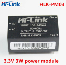 משלוח חינם 5 pcs AC DC 220 V כדי 3.3 V 3 W מיני אספקת חשמל מודול אינטליגנטי ביתי מתג מודול כוח מודול HLK PM03