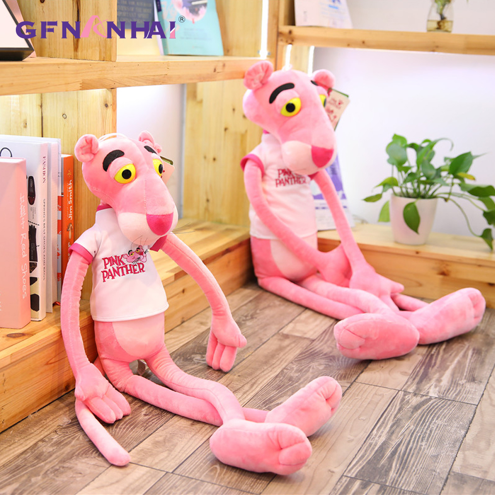 Big High quality Pink Panther Plush Toys stuffed soft kids Plush Toy Original Doll Children Christmas Birthday Presents 1pc 55cm