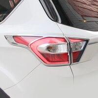 ABS Chrome Para Ford Kuga Fuga 2017 Acessórios Car styling Guarnição Tampa tampa Da Luz da Cauda Do Carro Acessórios de decoração Etiqueta 4pcs