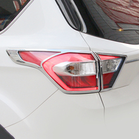 ABS Chrome For Ford Kuga Escape 2017 Car Accessories styling Car Tail Light cover Cover Trim decoration Accessories Sticker 4pcs