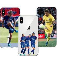 French Paris Saint Germain PSG Phone Case for iPhone 5 5S SE 6 6S Plus 7 8Plus Neymar jr Ultra Thin Soft TPU Cover For iPhone X(China)