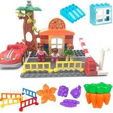 Kid Toys Brick Building-Blocks Modle Big-Size Accessories-Parts City-Road Classic Children