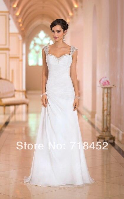 moda 2014 beach wedding dresses para invitados backless sweetheart