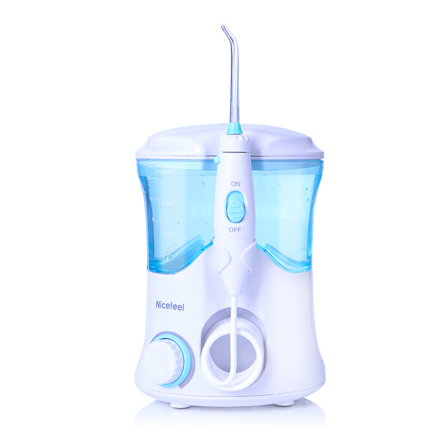 Dental Care NICEFEEL Rechargeable Water Pick Teeth Cleaning Oral Irrigator FC-169 Dental Water Jet Flosser With 7pcs Jet Tips oral irrigator faucet water flosser power dental water jet oral care teeth cleaner spa dental irrigator irrigation with 6 tips