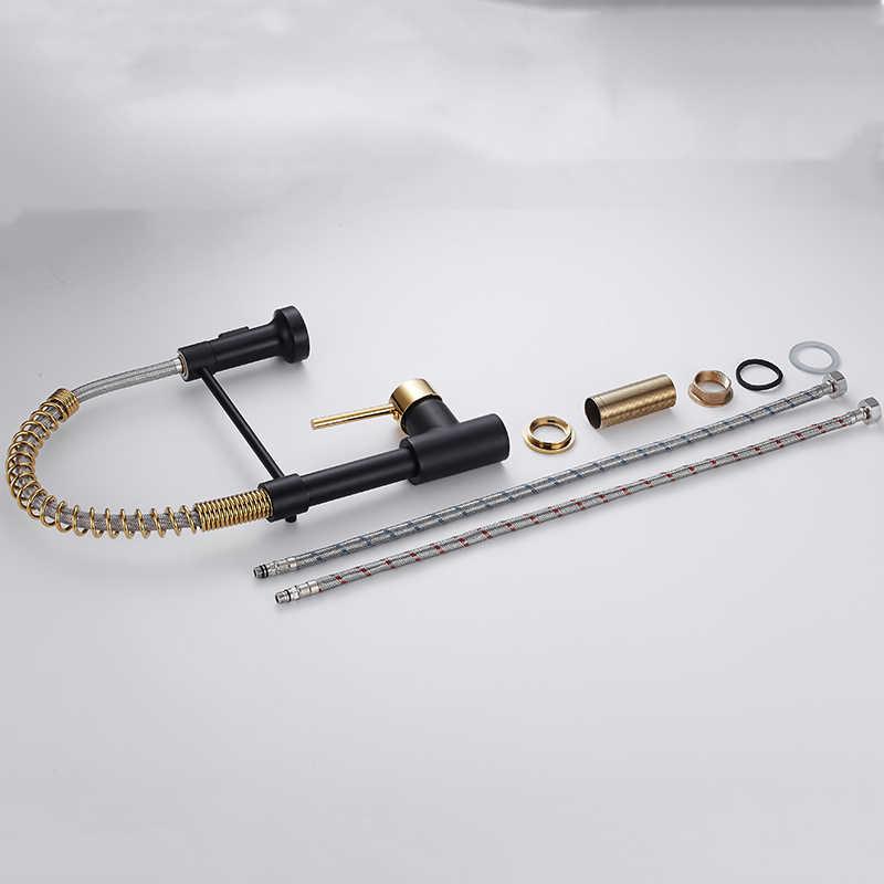 キッチン蛇口真鍮蛇口シンクシングルレバー春スパウトミキサーホット冷水タップ OWO-N22-060