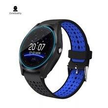 ZoneQuality V9 Smartwatch Relógio Inteligente com Câmera Bluetooth Cartão SIM relógio de Pulso para o Telefone Android Wearable Dispositivos pk dz09 A1 gt