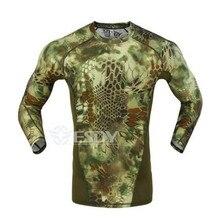 Новая тактическая камуфляжная Футболка Мужская дышащая армейская тактическая сетевая футболка Военная быстросохнущая футболка Джастин Бибер фитнес