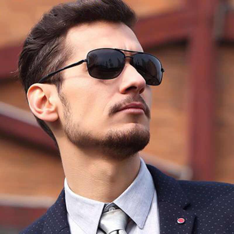 4abc164887a Fashion Men Sunglasses Polarized Square Night Vision Lenses Alloy Frame  Classic Male Sun Glasses Driving Men