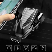 Universal Wireless Car Charger Mount Smart Sensor Auto Air Vent Clip Charger Phone Holder