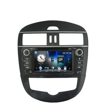 Free Shipping Wince 6.0 Car DVD GPS navigation For Nissan Tiida high equipment  2011 2012 with Bluetooth Ipod RDS USB AM FM