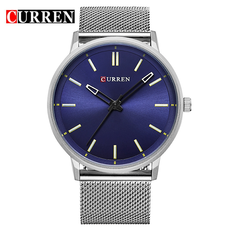 CURREN 8233 Luxury Brand Full Stainless Steel Analog Display Date Men's Quartz Watch Business Watch Men Watch Relogio Masculino skmei luxury brand stainless steel strap analog display date moon phase men s quartz watch casual watch waterproof men watches