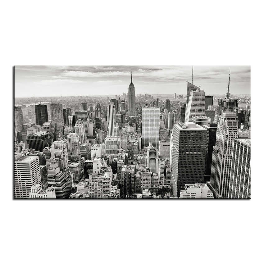 Large size Printing Oil Painting city skyline buildings Wall painting POP Art Wall Art Picture For Living Room painting No Frame
