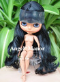 blyth doll with jointed body, black long hair,dark skin ,Valentine's day present,GHT002
