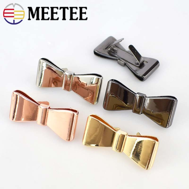 f8967e3dbe2a6 Meetee 4pcs 40x18mm Metal Hardware Bow knot Buckle Shoes Jewelry Bag Button  Decorative Luggage DIY Crafts Accessories AP505-in Buckles & Hooks from  Home ...