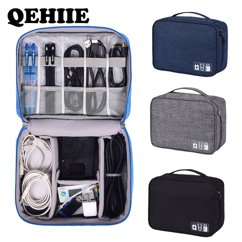 Travel Accessories Packing Cubes Digital Charger Accessories Package USB Cable Organizer Gadget Computer Data Cable Storage Bag