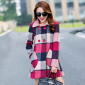 Winter Maternity CoatsMaternity ClothesKorean Fashion New Winter Double-Breasted Plaid Wool Coat Pregnant Women