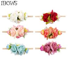 Flower Headband With Elastic Nylon Band Artificial Flower Garland Hairband Fashion Birthday Party Gift Hair Accessories 2017 new 10pcs lot beach hair accessories kids flower headband bohemian style wreath garland girls birthday party hairband